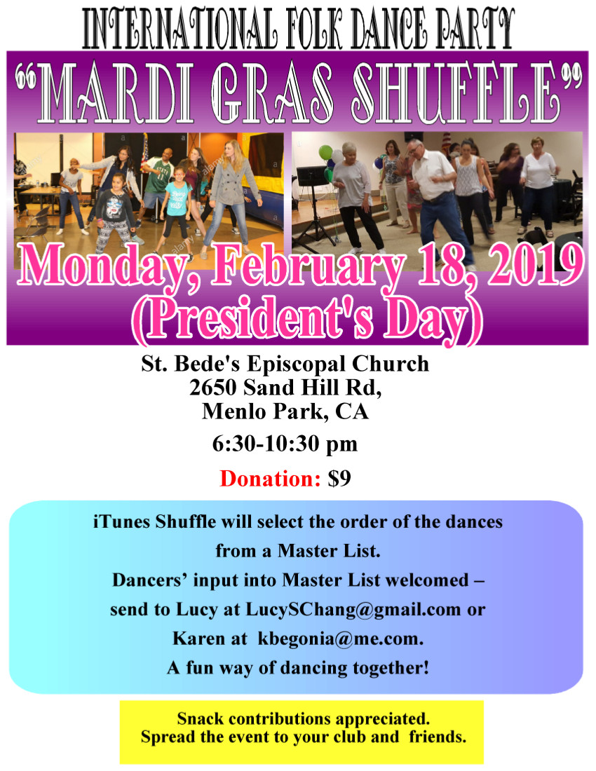 Mardi Gras Shuffle - Folk Dance Federation of California